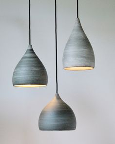 """shade ceramic"" lampshades made on the potters wheel with  painted porcelain layer/ isabel hamm licht 2012"