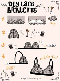 Making your own lingerie doesn't have to be complicated! Have a go at THE bra style of the season, the lace bralette, with these top tips!