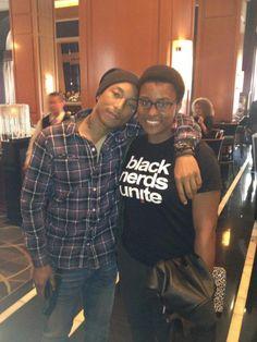 """BLACK NERDS UNITE"" - Pharrell Williams and Issa Rae of The Misadventures of Awkward Black Girl"