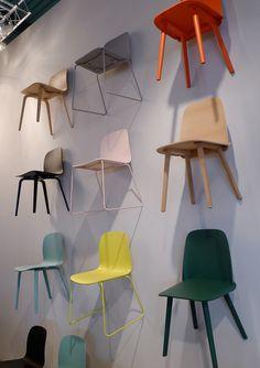 Milano Salone del Mobile 2012: New Muuto chairs by Mika Tolvanen and David Geckeler