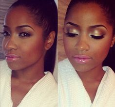 Her makeup is perfect! ...but the lips may be just a tad too shiny lol