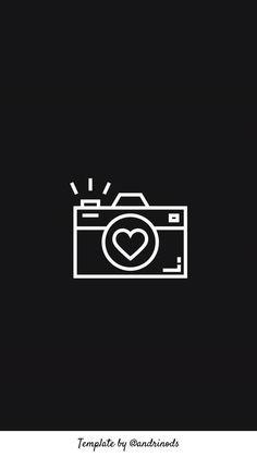 Cute Black Wallpaper, Black Aesthetic Wallpaper, Dark Wallpaper, Instagram Black Theme, Black And White Instagram, App Background, Instagram Background, Camera Logo, Camera Icon
