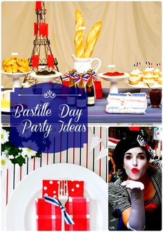 Bastille Day Party Ideas: Say Oui to Le quatorze juillet – Holiday is fun Paris Party, Paris Theme, French Themed Parties, French Days, Picnic Decorations, World Thinking Day, Bastille Day, Le Diner, French Food