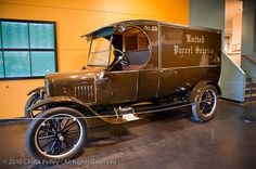 United Parcel Service - 1922 Ford Model T Package Car. UPS began in Seattle, Wash. in 1907 as a messenger service via a bicycle.