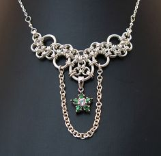 Steppingstones necklace by Redcrow at Corvus Chainmaille, via Flickr
