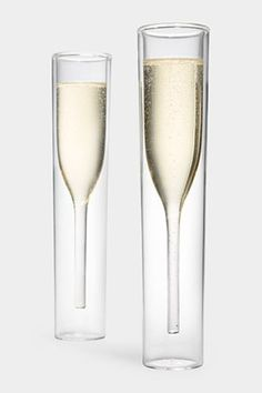 20 Stellar Gifts To Please Any Hostess  #refinery29  http://www.refinery29.com/61954#slide-1  Alissia Melka Teichroew Inside Out Champagne Glasses, $70, available at MoMA Store....