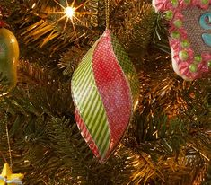Classic Paper Mache Ornament - see how to make this ornament with Mod Podge