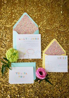 Modern geometric wedding decor ideas | photo by Amanda Megan Miller | 100 Layer Cake