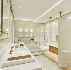 65 New Ideas bathroom spa decor jacuzzi Spa Bathroom Decor, Bathroom Colors, Jacuzzi Bathroom, Bathroom Design Luxury, Home Interior Design, Luxury Homes Dream Houses, Bathroom Inspiration, New Homes, House Design