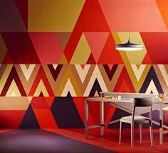 Tendencias en paredes con diseño geométrico