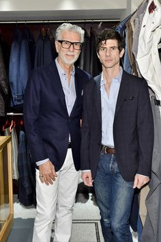 C Social Front. Isaia Made-to-Measure Event — Firooz Zahedi & Darian Zahedi