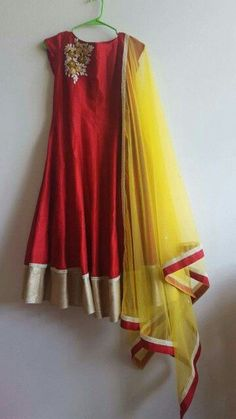Anrakali in georgette with thread work
