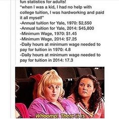 And tuition is literally rising constantly, minimum wage is not. Stop raising tuition people!!!