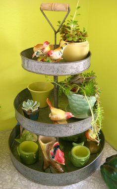so sweet.. .birdie retro indoor gardening