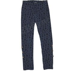 Carbone bequeme Leggings Punkten Denim Blau