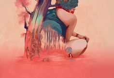 The sun is going down on Behance