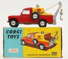Vintage corgi toys Land Rover Wrecker