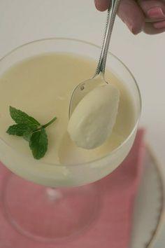 Meyer lemon posset, a light mousse-like dessert with three ingredients...Meyer lemons, superfine sugar and heavy cream.