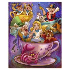 Product Image of ''Alice in a Teacup'' Giclée by Darren Wilson # 1