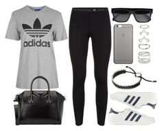 """""""Style #10430"""" by vany-alvarado ❤ liked on Polyvore featuring adidas, Topshop, adidas Originals, Givenchy, CÉLINE, Native Union, Links of London and Forever 21"""