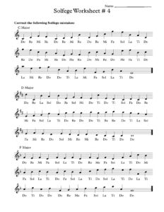 Free Solfege Worksheets for Classroom Instruction | Musik