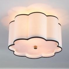 scalloped drum shade