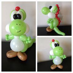 New Yoshi design. balloons, balloon animal, balloon art, balloon artist, balloon sculptor, balloon sculpture, balloon twister, balloon twisting, clown, entertainer, follow me, archie cobblepot, yoshi, super mario bros