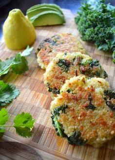 Low FODMAP Recipe and Gluten Free Recipe - Spinach & quinoa patties - http://www.ibs-health.com/spinach_quinoa_patties.html