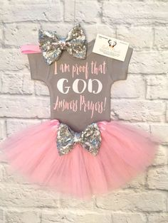 76bd4067f93 Excited to share thi Excited to share this item from my shop  I Am Proof  GOD Answers Prayers Bodysuit Baby Girl Clothes Answered Prayer Bodysuits  Religious ...