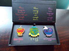 Disney Love Is Heartless Pin Box Set LE 250 Maleficent Ursula Evil Queen VHTF!