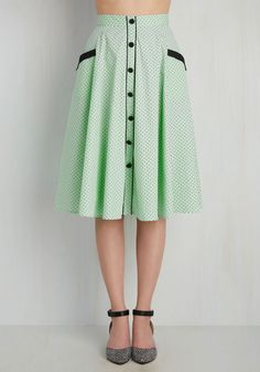 Heps and Dreams Skirt in Pistachio