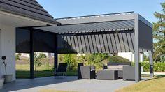 kologische l sung berdachung terrasse ber motorantrieb verstellbare lamellen 46 diy. Black Bedroom Furniture Sets. Home Design Ideas