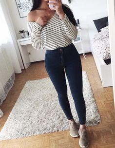 calça cintura alta + suéter