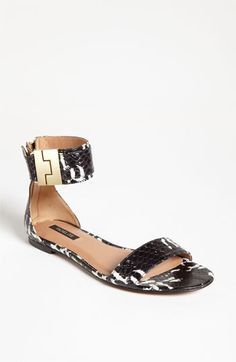 WANT. THESE! Rachel Zoe 'Gladys' Flat Sandal available at #Nordstrom