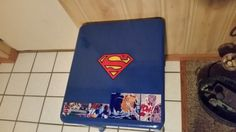 Superman End Table Night Stand Custom Art Work One Of A Kind
