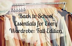 Back to School Essentials for Every Wardrobe: Fall Edition Ah the start of a new school year! New people, new classes, and NEW CLOTHES! Back to school clothes shopping is always a fun way to take your mind off the school work ahead. Purchasing staple pieces for back-to-school wear is essential in creating the perfect wardrobe! Check out my key pie...  Read More at http://www.chelseacrockett.com/wp/fashion/back-to-school-essentials-for-every-wardrobe-fall-edition/.
