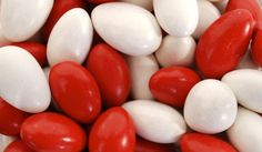 red and white jordan almonds