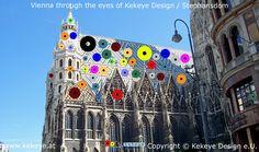 Stephansdom Wien, St. Stephen's Cathedral Vienna in Dots Design / Photo © Kekeye Design e.U. Dots Design, Vienna, Cathedral, Fair Grounds, Eyes, Fun, Travel, Voyage, Cathedrals