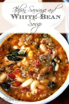 Keep warm during these winter months with this delicious, hearty, and flavorful Italian Sausage and Ham And Bean Soup, Ham Soup, White Bean Soup, Chili Recipes, Soup Recipes, Best Chili Recipe Ever, White Beans And Ham, Italian Sausage Recipes, Italian Soup