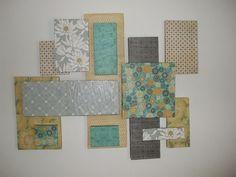Scrapbook Paper Wall Art | Styrofoam and scrapbook paper wall art