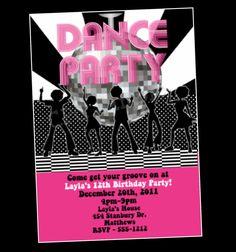 Disco Ball Invitation Dance Party Birthday Invitation Disco Dance Party Invite Printable Digital. $15.00, via Etsy.