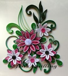 Quilled flower arrangement