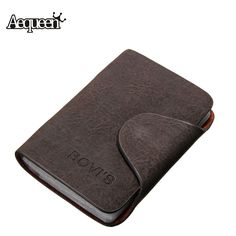 20 Bits Business ID Credit Card Holder/Case Nubuck PU Leather Buckle Fold Men Cards Holders Slots Wallet Business Card Package #clothing,#shoes,#jewelry,#women,#men,#hats,#watches,#belts,#fashion,#style