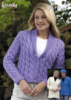 Cable Jackets & Hat in Wendy Aran with Wool | Knitting Patterns | LoveKnitting