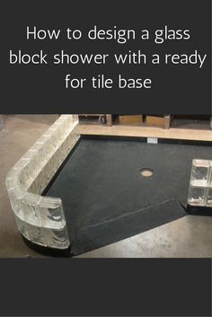5 tricks to design and lay out a glass block shower wall with a ready for tile… Tiny House Bathroom, Bathroom Renos, Basement Bathroom, Small Bathroom, Bathroom Ideas, Redo Bathroom, Restroom Ideas, Bathroom Stuff, Attic Bathroom