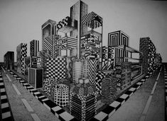 Week 7 Pin 1: Two-point perspective Stipple | Mark Elouadihi