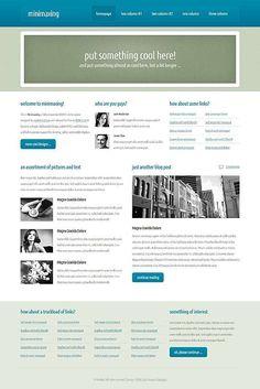 template gratuito  Minimaxing - web gratuitamente i modelli