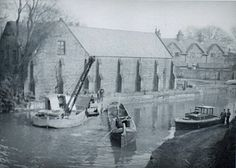 Dredger and barges on the Bridgewater canal at Worsley. Bridgewater Canal, Canal Boat, Trafford, Manchester, Boats, British, History, Boating, Ships
