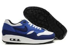 HWaVC Nike Air Max 1 Men's Running Shoes Blue Navy-White