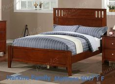 This set includes the Full size Bed frame set, Nightstand, Dresser and Mirror. Bed measures H HB, H FB. Nightstand measures x x H. Dresser measures x x H. Full Size Bedroom Sets, Twin Bedroom Sets, Wood Bedroom Sets, Oak Bedroom Furniture, Dark Wood Bedroom, Kids Furniture, Kids Bedroom, Bedroom Ideas, Furniture Design